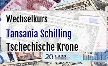 Tansania Schilling in Tschechische Krone