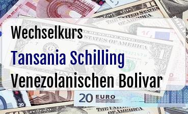 Tansania Schilling in Venezolanischen Bolivar