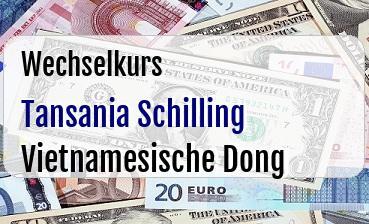 Tansania Schilling in Vietnamesische Dong