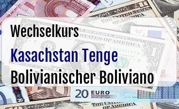 Kasachstan Tenge in Bolivianischer Boliviano