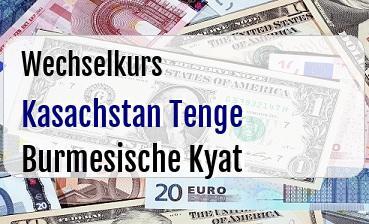 Kasachstan Tenge in Burmesische Kyat