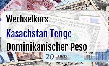 Kasachstan Tenge in Dominikanischer Peso