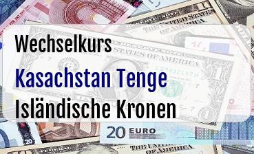 Kasachstan Tenge in Isländische Kronen