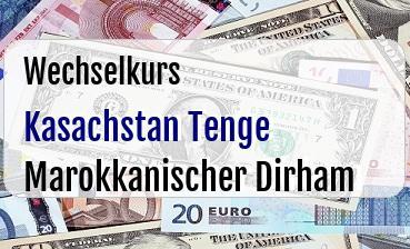 Kasachstan Tenge in Marokkanischer Dirham