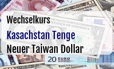 Kasachstan Tenge in Neuer Taiwan Dollar