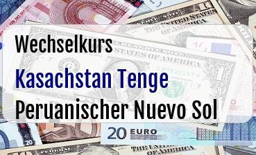Kasachstan Tenge in Peruanischer Nuevo Sol