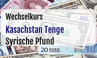 Kasachstan Tenge in Syrische Pfund