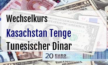 Kasachstan Tenge in Tunesischer Dinar