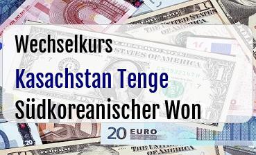 Kasachstan Tenge in Südkoreanischer Won