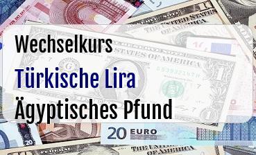 Türkische Lira in Ägyptisches Pfund