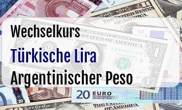 Türkische Lira in Argentinischer Peso