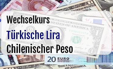 Türkische Lira in Chilenischer Peso