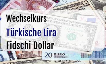 Türkische Lira in Fidschi Dollar