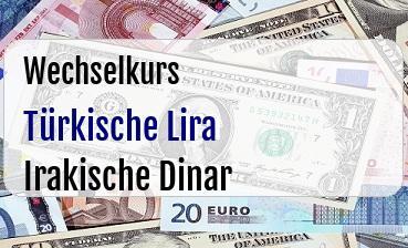 Türkische Lira in Irakische Dinar