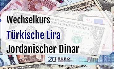 Türkische Lira in Jordanischer Dinar