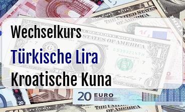Türkische Lira in Kroatische Kuna