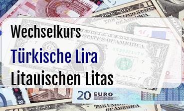 Türkische Lira in Litauischen Litas