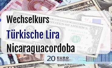 Türkische Lira in Nicaraguacordoba