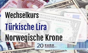 Türkische Lira in Norwegische Krone