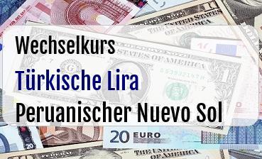 Türkische Lira in Peruanischer Nuevo Sol