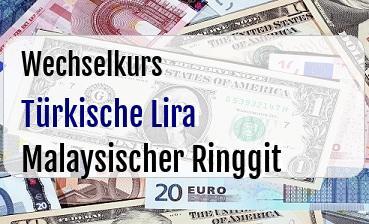 Türkische Lira in Malaysischer Ringgit