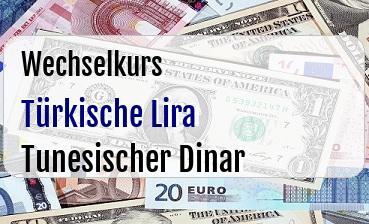 Türkische Lira in Tunesischer Dinar