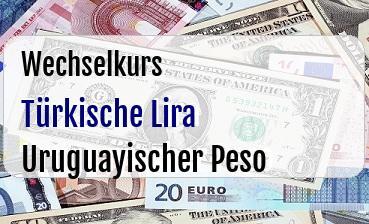 Türkische Lira in Uruguayischer Peso