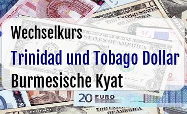 Trinidad und Tobago Dollar in Burmesische Kyat