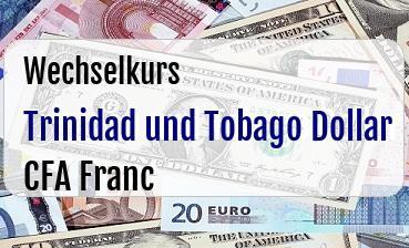 Trinidad und Tobago Dollar in CFA Franc