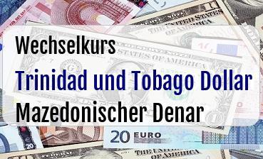 Trinidad und Tobago Dollar in Mazedonischer Denar