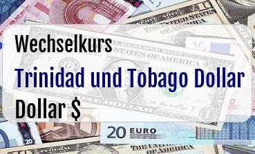 Trinidad und Tobago Dollar in US Dollar