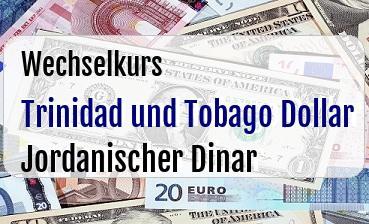 Trinidad und Tobago Dollar in Jordanischer Dinar