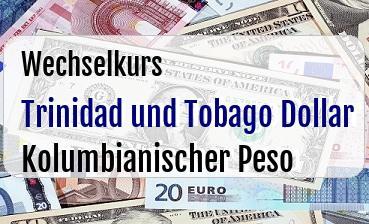 Trinidad und Tobago Dollar in Kolumbianischer Peso