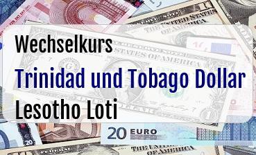 Trinidad und Tobago Dollar in Lesotho Loti