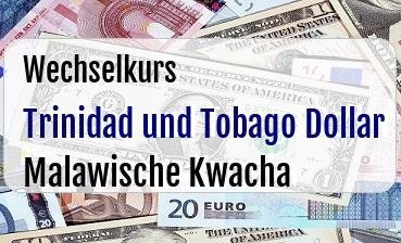 Trinidad und Tobago Dollar in Malawische Kwacha