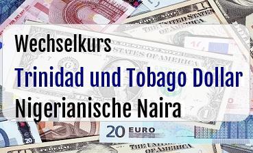 Trinidad und Tobago Dollar in Nigerianische Naira
