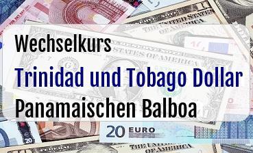 Trinidad und Tobago Dollar in Panamaischen Balboa