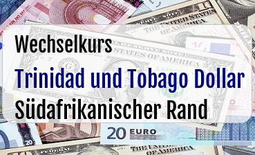 Trinidad und Tobago Dollar in Südafrikanischer Rand