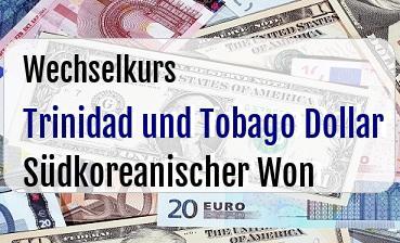 Trinidad und Tobago Dollar in Südkoreanischer Won
