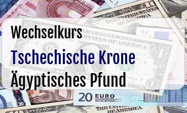 Tschechische Krone in Ägyptisches Pfund