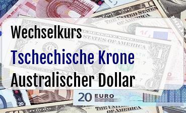 Tschechische Krone in Australischer Dollar
