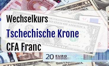Tschechische Krone in CFA Franc