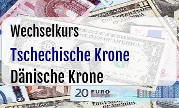Tschechische Krone in Dänische Krone