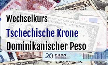 Tschechische Krone in Dominikanischer Peso