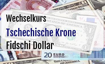 Tschechische Krone in Fidschi Dollar
