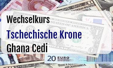 Tschechische Krone in Ghana Cedi