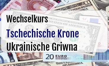 Tschechische Krone in Ukrainische Griwna