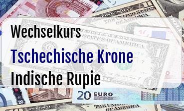 Tschechische Krone in Indische Rupie