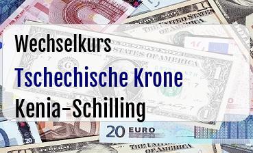 Tschechische Krone in Kenia-Schilling