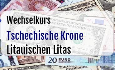 Tschechische Krone in Litauischen Litas